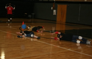 LEOs are bowled over by Goalball!